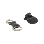 Diecast Total Control Dual Key Rigid Handcuffs with Sheath (Silver)