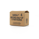 Menu 4 Second half of 5 rations box