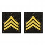 US Army Sergeant Chevron (Yellow)