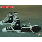 Female Black Converse canvas with socks