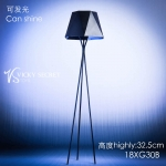 Diecast LED Light Up Floor Lamp (Black)