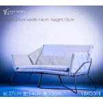 Diecast Double Sofa (White)