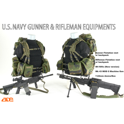 us navy gunner & rifleman equipment woodland