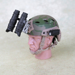 Multicam carbon Bump Helmet with PVS 15 Night Vision Goggle and NVG Counterweight Pouch