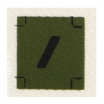 French Private First Class Rank Insignia (Olive Drab)