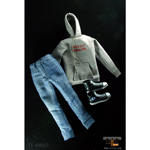 Grey streetwear female clothes set
