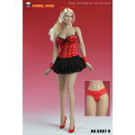 Sexy Basque Corset Dress (Red)