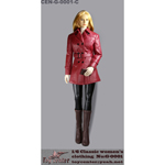 Classic Women's Leather Suit Set (Red)