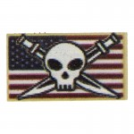 US Pirate Skull Patch (White)