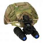 Fast Ballistic High Cut Helmet with Cover and AN/PVS-15 NVG (Multicam)