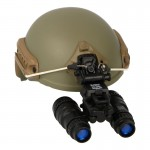 Fast Ballistic High Cut Helmet with AN/PVS-15 NVG (Coyote)