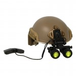 Fast Maritime Cut Helmet with AN/PVS-22 NVG (Coyote)