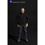 Man's Vertical T-Shirt and Jeans Uniform Set - Spring & Fall (Type B)
