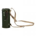 Worn M38 Gas Mask Canister (Olive Drab)