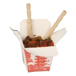 Asian Sauteed Beef Takeout Box (White)