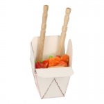 Asian Sauteed Vegetables Takeout Box (White)