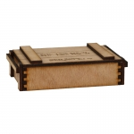 Wooden 7,5cm Shell Ammo Box (Beige)