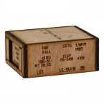 Wooden 5,56mm Cartridges Ammo Box (Beige)