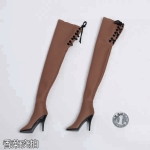 Female Heeled Boots (Brown)
