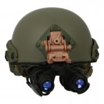 Fast Ballistic Helmet with AN/PVS-15 NVG (Olive Drab)