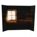 Fenced House Diorama Background (Brown)