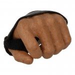 Caucasian Male Right Hand with Leather Protection (Brown)
