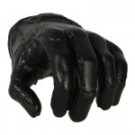Female Left Gloved Hand (Black)