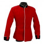 Velvet British Royal Guard Officer Dress Jacket (Red)
