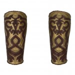 King Of Rohan Forearm Armors (Brown)