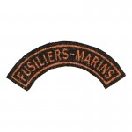 French Fusiliers Marins Rocker Patch (Orange)