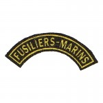 French Fusiliers Marins Rocker Patch (Yellow)