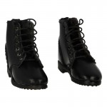Leather Ankle Boots (Black)
