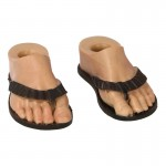 Feet with Flip-Flops (Brown)