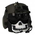 HGU-56/P Pilot Helmet with Maxillofacial Mask and ANVIS NVG (Olive Drab)