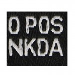 O Pos NKDA Boold Type Patch (Black)