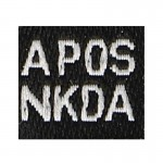 A Pos NKDA Boold Type Patch (Black)
