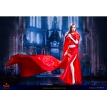 Queen Style Long Retro Skirt Set (Red)