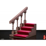 Villa Stairs with Handrail Scene (Brown)