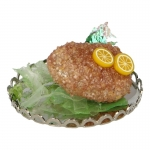 Breaded Fish with Diecast Plate (Marron)