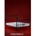 Diecast Single Bed with Mattress (Black)
