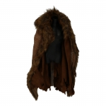 Cape with Fur Collar (Brown)