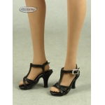Female Ankle Strap High Heel Shoes (Black)