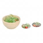 Mixed Salad Bowl with Diecast Plates (Green)
