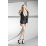 Female Fashion Short Dress Suit Set (Black)