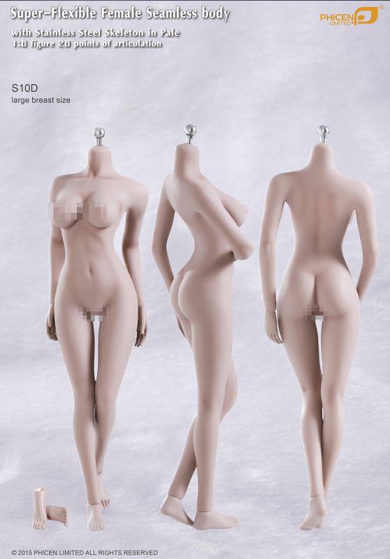 JIAOU DOLL 1//6  FEMALE SEAMLESS LARGE Bust SUNTAN Figure Body w// DETACHABLE FEET